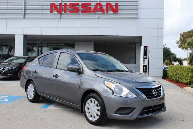 certified pre-owned 2017 nissan versa 1.6 s plus 4d sedan in delray